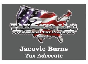 Jacovie Burns Tax 2 Go Desoto